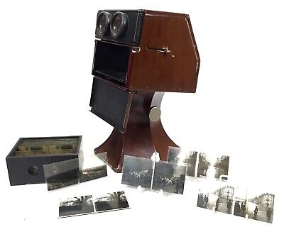 Antique French L.A Gaumont & Cie Tabletop Stereoscope / Stereo Viewer Taxiphote • 625£