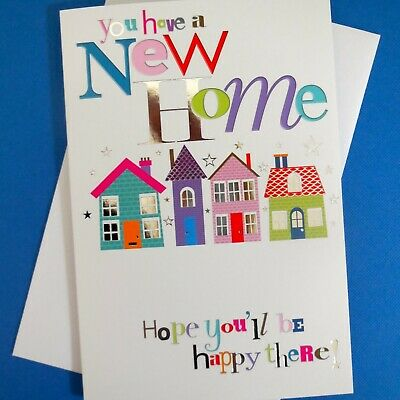 New Home House Card Moving In Greetings Congratulations Modern Nice FREE P&P • 2.25£