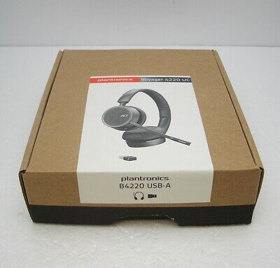 Plantronics Voyager 4220 Stereo UC Bluetooth With USB-A Adapter Headset MS Skype • 121.93£