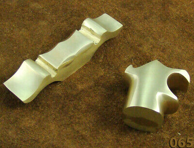Set Of 2 Solid Brass Costing Bolster Guard For Knife Making Bush Craft TOP!(065 • 14.99£