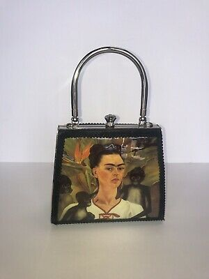 $190 • Buy Art Bag By Debora Crichton  One Of The Kind Frida Kahlo