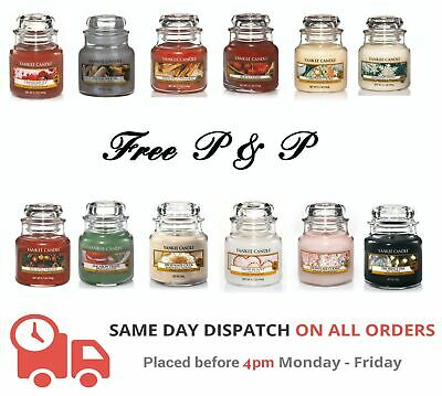 Yankee Candle Small Jar Various Fragrances - FREE P&P - LARGE SELECTION • 9.49£