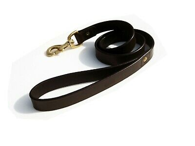 £19.99 • Buy Leather Dog Lead 40 Inch Long With Brass Trigger Hook, All Colour