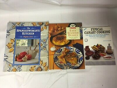 £9.99 • Buy 3x Spanish Cook Books Spanish Woman's Kitchen Typical Canary Cooking Easy Dishes