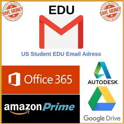 $1.79 • Buy Edu Email 6 Months Amazon Prime Unlimited Google Drive Storage US Student Email