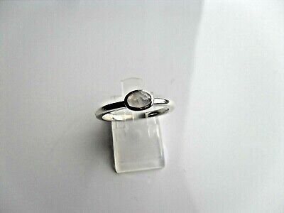 Ladies Silver 925 Ring Size S  With Lovely 1 X Milky Coloured Stone • 17.95£