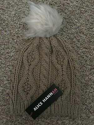 £4.99 • Buy Alice Hannah Natural Chunky Cable Knit Hat BNWT