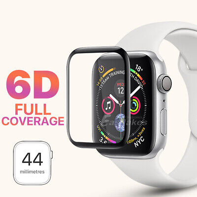 AU4.99 • Buy For Apple Watch 4 44 &40 Mm 6D Curved Tempered Glass FULL COVER Screen Protector