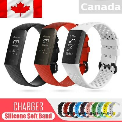 $ CDN9.99 • Buy For Fitbit Charge 3 & 4 Replacement Silicone Watch Sports Band Strap Wristband