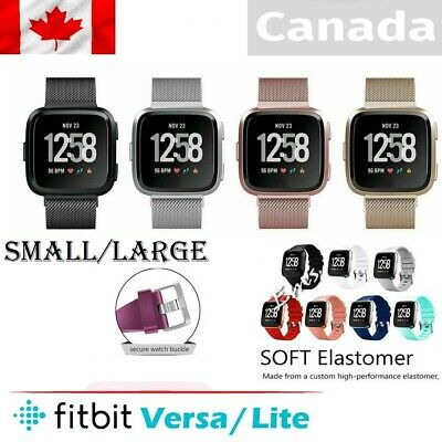 $ CDN6.99 • Buy Replacement Silicone Band/ Band For Fitbit Versa 1 2 / Lite Sports  S-L CA