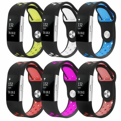 AU10.68 • Buy Replacement Silicone Rubber Band Strap Wristband Bracelet For Fitbit Charger 2