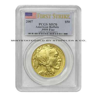 $2350.08 • Buy 2007 $50 Buffalo PCGS MS70 First Strike Flawless Uncirculated Gold Bullion Coin