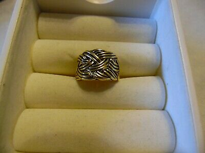 $ CDN13.59 • Buy Lia Sophia Gold Colored Weaved Ring  Captive  Size 8 NEW