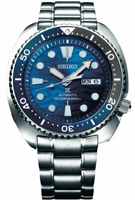 $ CDN392.81 • Buy New Seiko Automatic Prospex Blue Wave Turtle Divers 200M Men's Watch SRPD21