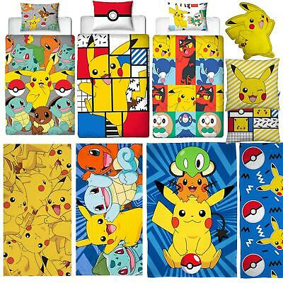 Pokemon Bedding Pikachu Pokeball Duvets Towel Cushion Blanket - Sold Separately • 15.99£