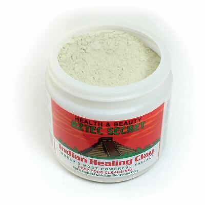 AU29.23 • Buy Aztec Secret Indian Healing Clay Calcium Bentonite Cleansing Face Mask 1LB New