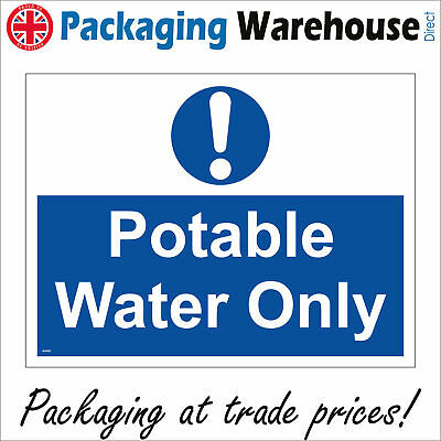 Ma493 Potable Water Only Sign Drinking Bottled Tap Cooking Catering Workplace • 5.78£