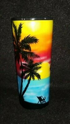 $65 • Buy Sunset On The Beach Tumbler Rambler Cup - Custom Hand Painted Airbrushed