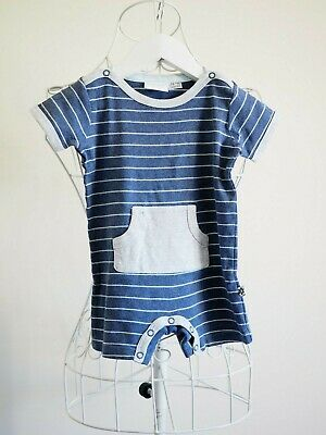 AU10.80 • Buy  Marquise  Size 0, Boys Navy Blue Striped Bodysuit, Great Condition, Bargain!