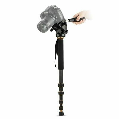 $ CDN104.28 • Buy Q188C Carbon Fiber Monopod With Pan Head Quick Release Plate For Canon Camera