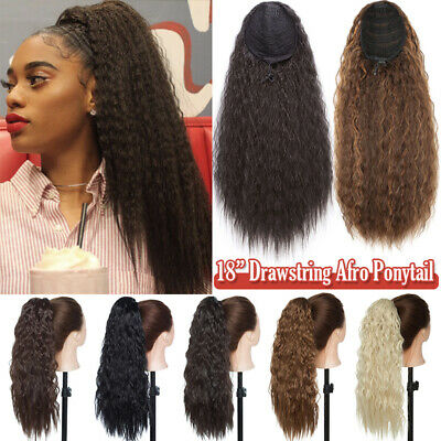 £11.90 • Buy 140G Thick Afro Kinky Curly Ponytail Puff Drawstring Clip In Hair Extensions UK