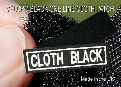 Velcro Black Cloth 1 Line Personalised Name Patches Tag Biker Patch • 4.99£