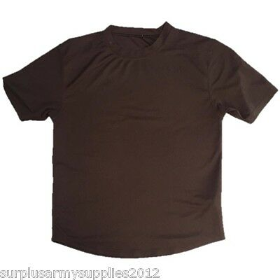 £4.99 • Buy British Army Issued Brown T-shirt Combat Anti Static Coolmax Top Mtp