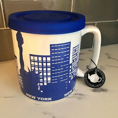 £11.31 • Buy The Old Pottery Company New York Oversized Jumbo Mug With Lid And Tag Coffee Cup