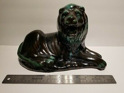 $ CDN54.99 • Buy Blue Mountain Pottery BMP - Lion Figure 12  Long 7.5  High - Brown - Green Drip