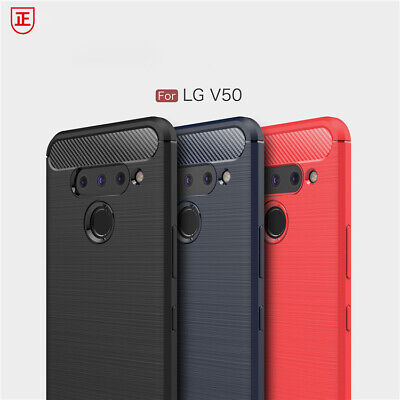 AU11.99 • Buy For LG V50 ThinQ Case Carbon Fiber Slim Armor Knock Silicon Shockproof Cover