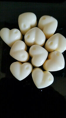 Highly Scented Wax Melts 6 X Large Heart Shape Melts 100% Soya Wax Free Delivery • 2.20£
