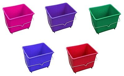 Plastic Bucket With Handle Hanging Animal Feed Trough Paint Scuttle Storage • 7.99£