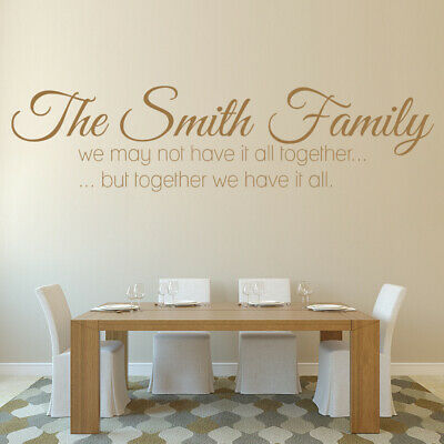 £10.98 • Buy Personalised Name Family Quote Wall Sticker WS-32440
