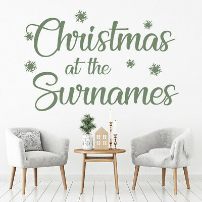 £11.98 • Buy Personalised Name Christmas Family Wall Sticker WS-50038