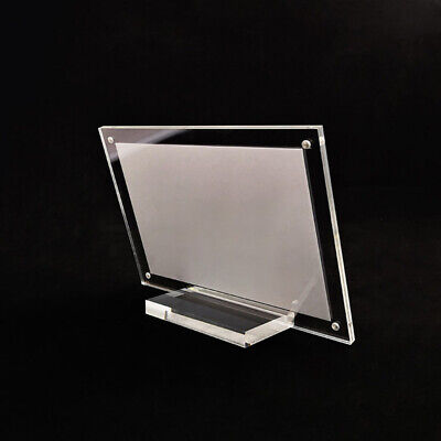 $10.33 • Buy Acrylic Table Name Card Store Price Tag Sign Display Stand Holder Transparent
