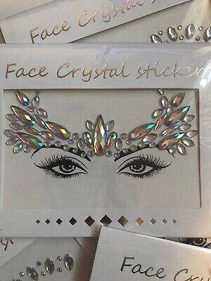 FESTIVAL,SUMMER, HEN PARTY, FACE GEMS,FACE CRYSTAL STICKERS 1 FOR £2.99 2 For £5 • 2.99£