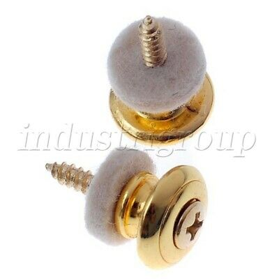 $ CDN7.23 • Buy Pair Of Gold Finish Guitar Strap Buttons 15mm-Dia