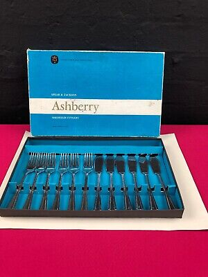 6 Sets SPEAR & JACKSON ASHBERRY STUART Cutlery Stainless Fish Forks Knives Boxed • 14.99£