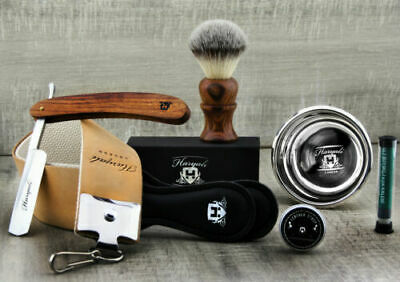 Vintage Style Men's Shaving Set With Cut Throat Razor (Old Barber Style) • 29.94£