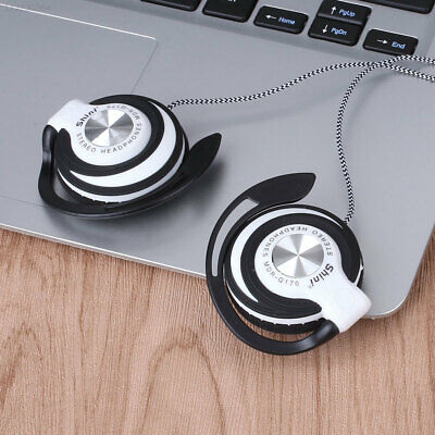 B233 White Headphones EarHook For Mp3 Earphone Player Wired Clip On Ear • 5.02£
