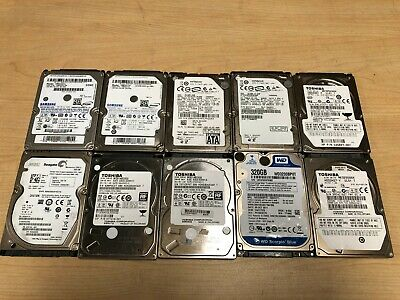 $ CDN151.95 • Buy Lot Of 10 Mix Seagate WD Toshiba Samsung 320GB 2.5  SATA Laptop Hard Drive 9mm