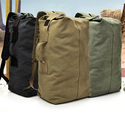 AU19.73 • Buy Canvas Camping Hiking Bag Army Military Tactical Backpack Rucksack Sport Travel