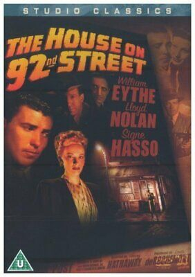 The House On 92nd Street DVD 40s Film Noir Movie William Eythe Signe Hasso • 3.99£