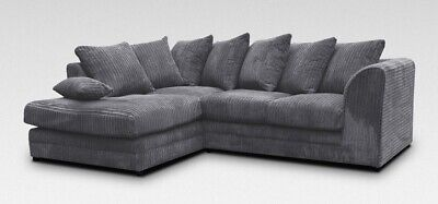*sale* Brand New Chicago Jumbo Cord Corner Sofa 5 Colours - Left / Right Hand  • 400£