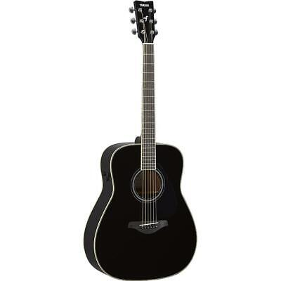 Yamaha FG Trans Dreadnought Black Acoustic Guitar • 909.16£