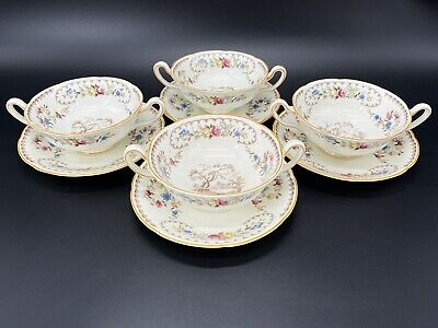 $ CDN89 • Buy Royal Doulton The Beaufort Soup Bowl With Saucer Set Of 4 Bone China England