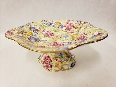 $ CDN66.18 • Buy Vintage Royal Winton Grimwades SUMMERTIME Floral Pattern Footed Compote Plate
