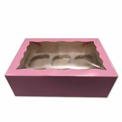 AU19 • Buy Cupcake Boxes 6 Hole 10 Pk Window Cake Boxes Cake Boards Baby Pink Patty Pans