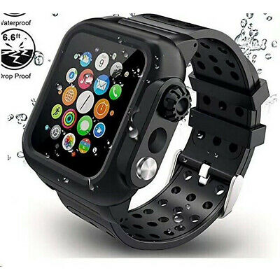 $ CDN20.32 • Buy Waterproof Case With Band Strap For Apple Watch Series 6/5/4/3/2/1 38/42/40/44mm