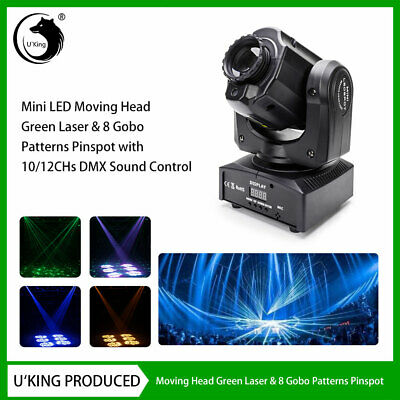 U`King 60W Gobo Laser Moving Head LED Stage Light DMX Party DJ Show Disco KTV • 96.99£
